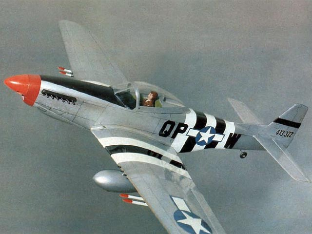 1/2A P-51D Mustang - completed model photo