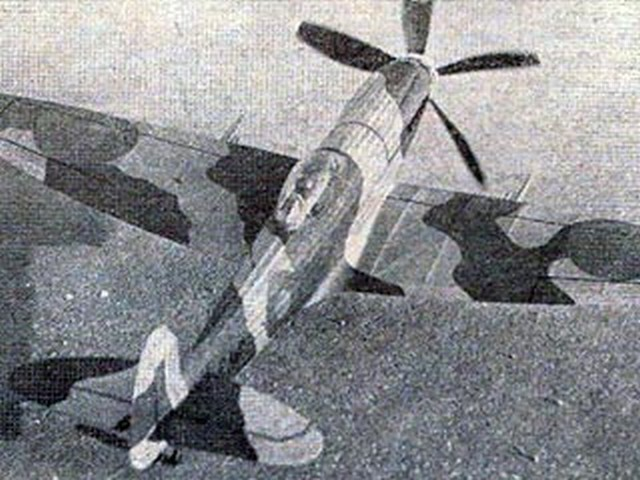 Spitfire XIV (oz5142) by Lubomir Koutny from Modelar 1971