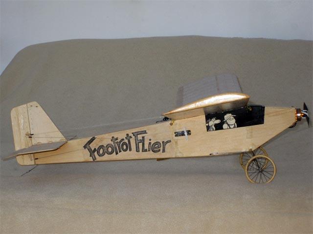 Footrot Flier (oz5251) by John Reid from Model Builder 1986