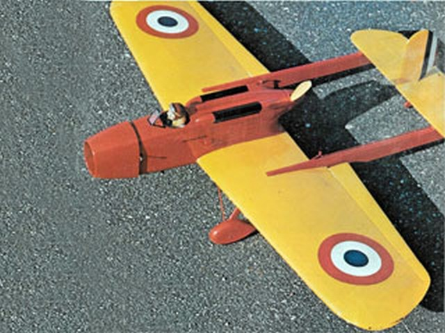 Hanriot-Biche H-110 Pursuit - completed model photo