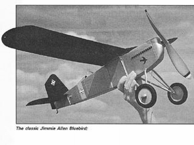 Jimmie Allen Bluebird (oz528) by Speed Robertson from Country Club Aero Supply 1933