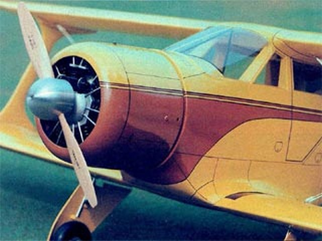 Beechcraft Staggerwing (oz5321) by Ray Dehn from RCMplans 1975