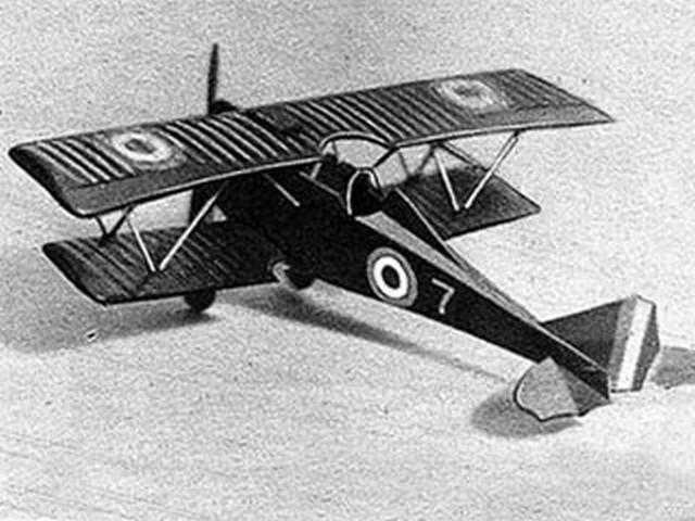 Ansaldo SVA-5 (oz5333) by Joseph Wherry from Model Airplane News 1947