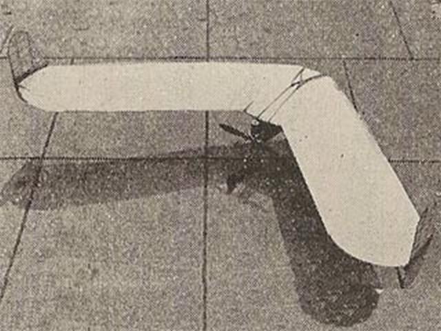 Borysko Tailless (oz5340) by Andrew Borysko from Model Craftsman 1937