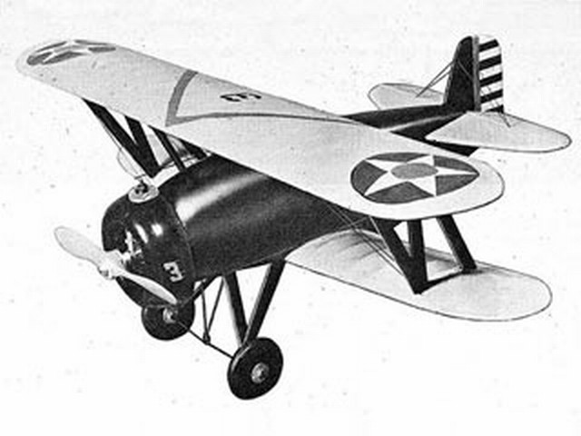 Boeing P-12C - completed model photo