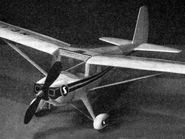 Luscombe Silvaire (oz5366) by Bill Blake from Model Aviation 1950