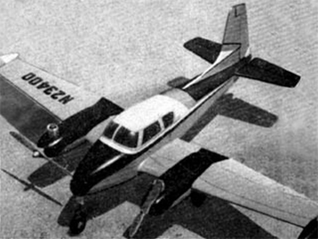 Cessna 310 (oz5371) by Dick Atkins from Aeromodeller 1956