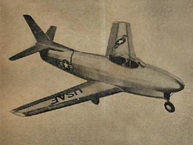 F-86D Sabre (oz538) by John Zawiski from Comet 1952