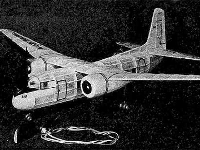 Lockheed Saturn (oz5386) by Sidney Struhl from Model Airplane News 1947