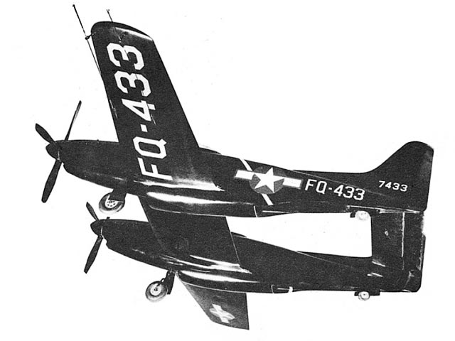 North American F-82 Twin Mustang (oz544) by S Cal Smith from Air Trails Annual 1951