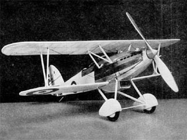 Hawker Super Fury (oz5451) by Paul Lindberg from Popular Aviation 1934