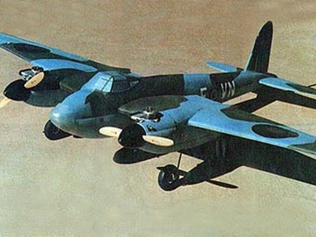 De Havilland Mk IV Mosquito (oz5482) by Richard Metlen from RCMplans 1978