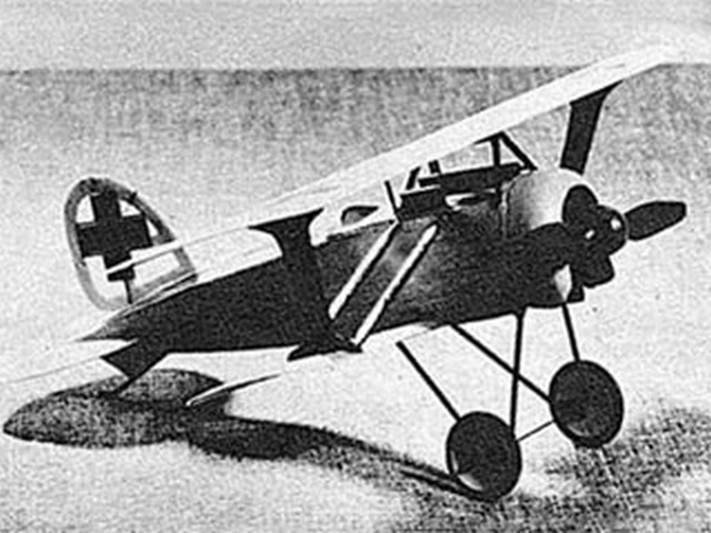 Albatros D.XI (oz5515) by Joseph Wherry from Model Airplane News 1947