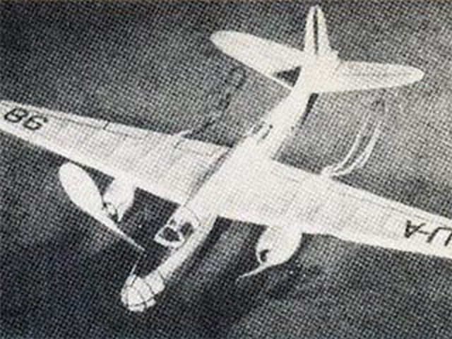 Douglas DB-7 (oz553) by Sidney Struhl from Model Airplane News 1941