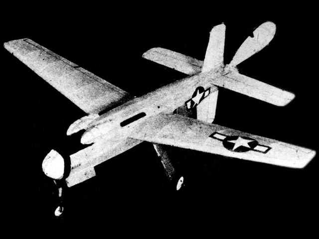 Douglas XB-42 Mixmaster (oz556) by Herbert K Weiss from Model Airplane News 1946