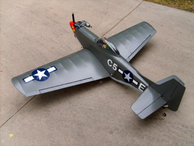 Mustang 40 - completed model photo