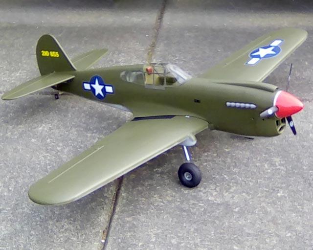 P-40 Warhawk (oz5611) by Dave Platt from Top Flite 1975