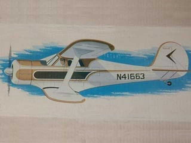Beechcraft D-17 Staggerwing - completed model photo