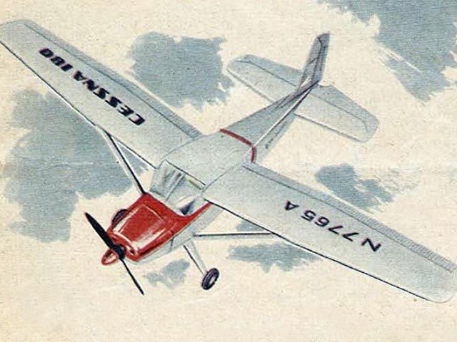 Cessna 180 (oz5693) by Karl-Heinz Denzin from Graupner 1958