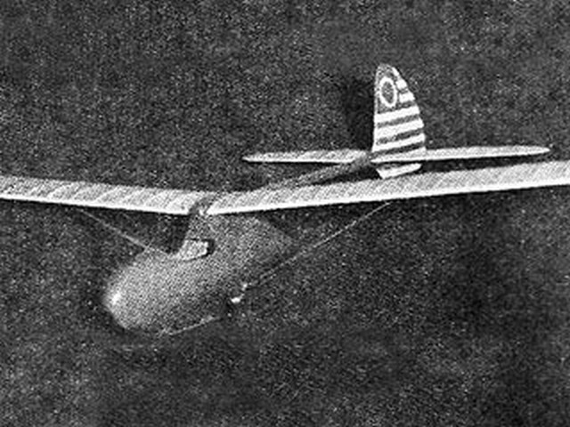 Bowlus Baby Albatross (oz571) by Paul Plecan from Air Trails 1938