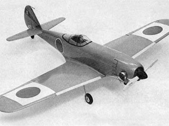 Nakajima Ki-84 1A Hayate (oz5776) by Stan Hines from Flying Models 1977