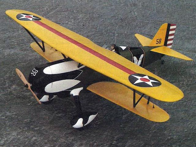 Curtiss Hawk P-6E (oz5832) by Bob Rich from RCMplans 1981
