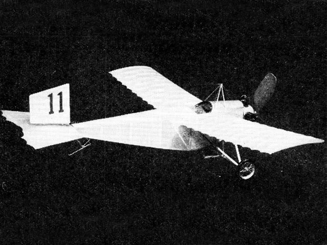 1911 Caudron - completed model photo