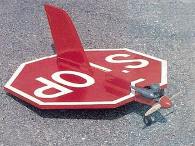 Flying Stop Sign (oz5873) by Bob Talley from RCMplans 1979
