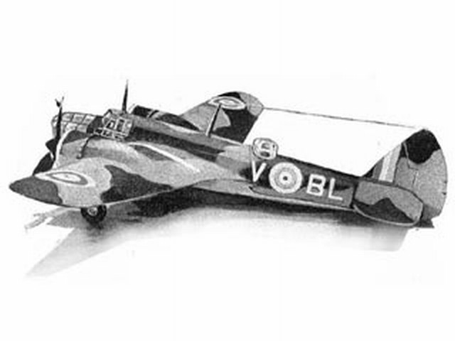 Bristol Blenheim MkIV (oz59) by Harold J Towner from Astral 1940