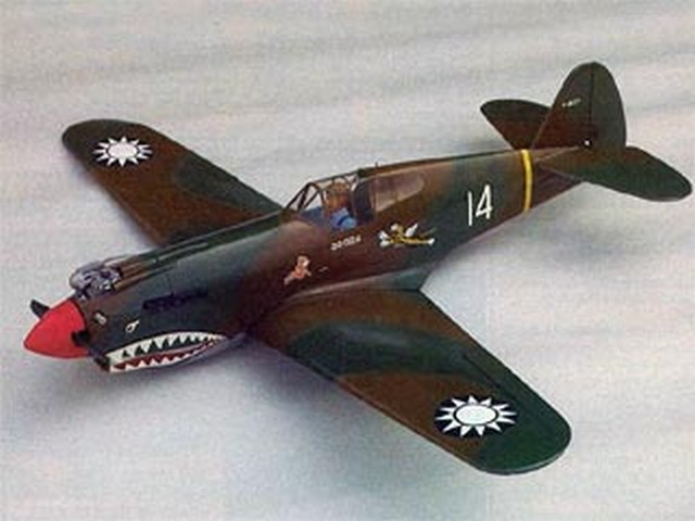 Curtiss P-40B Tomahawk (oz5929) by Gordon Whitehead from RCMplans 1984