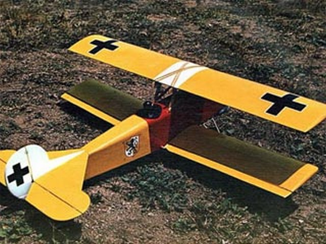 Fokker DVII (oz6025) by Chuck Cunningham from RCMplans 1973