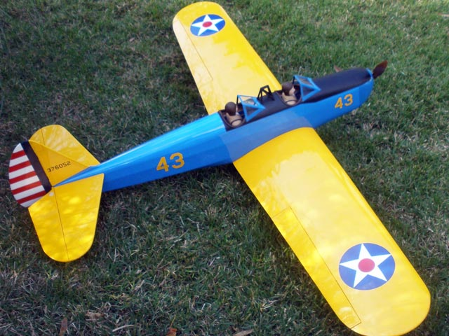 Electric PT-19 (oz6089) by Walt Mitchell from RCMplans 1989