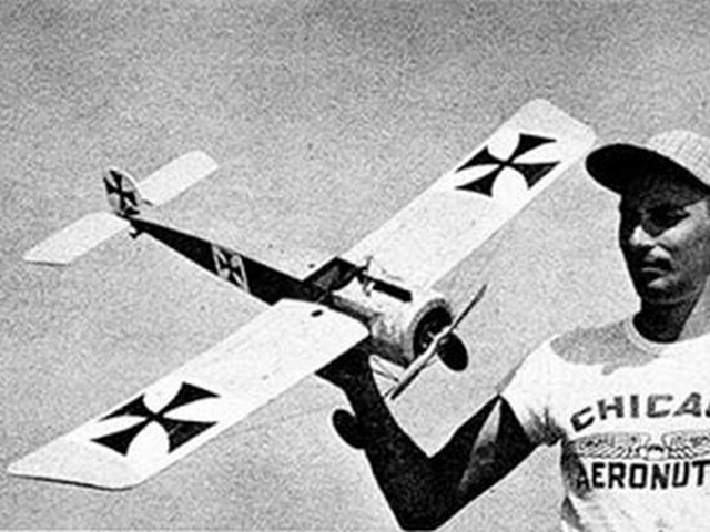 Fokker EIII (oz615) by Norman Deitchman from Model Airplane News 1958