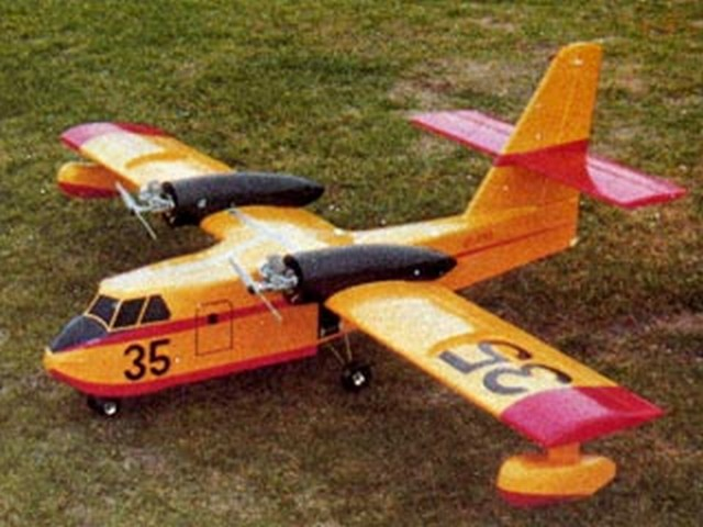 Canadair CL-215 (oz6182) by Steve Gray from Model Airplane News 1980