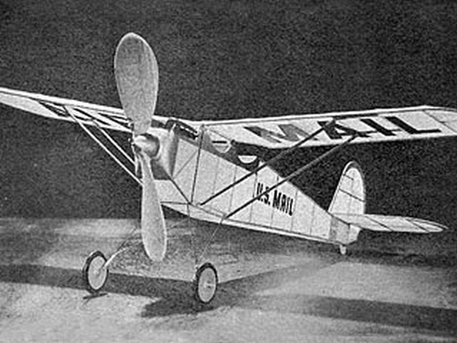 Quickie Mail Plane (oz6196) by Sherman Gillespie from Model Airplane News 1957