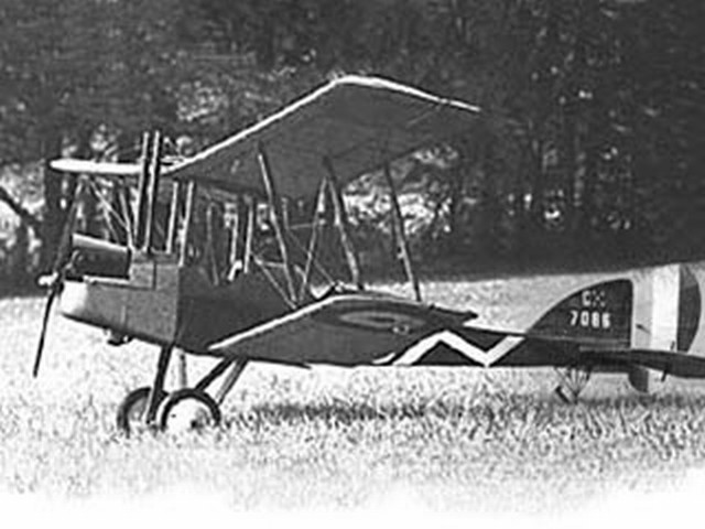 RAF BE2e - completed model photo