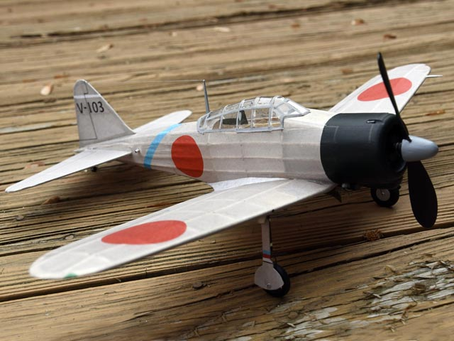 Mitsubishi A6M2 Zero (oz631) by Bob Peck from Flying Scale Models of WWII 1974