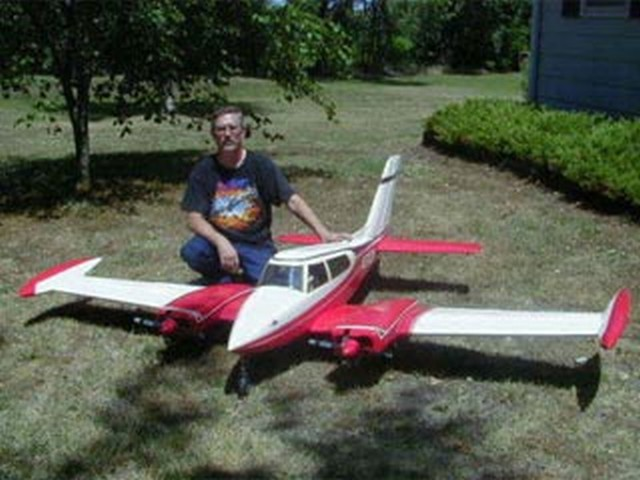 Cessna 310 (oz6348) by Bud Nosen from Bud Nosen Models 1980