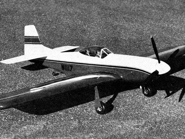 Mustang (oz6372) by Al Rabe from American Aircraft Modeler 1969