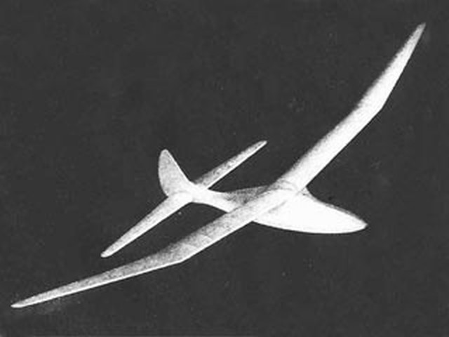 1948 Glider - completed model photo