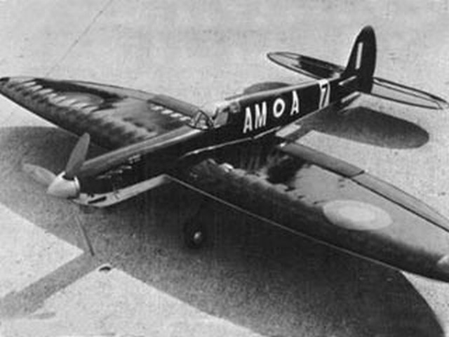 Spitfire (oz6444) by Jack Sheeks from Flying Models 1968