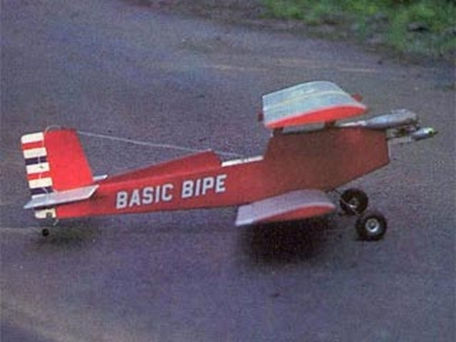 Basic Bipe II (oz6626) by Darrel C Stebbins from RCMplans 1977