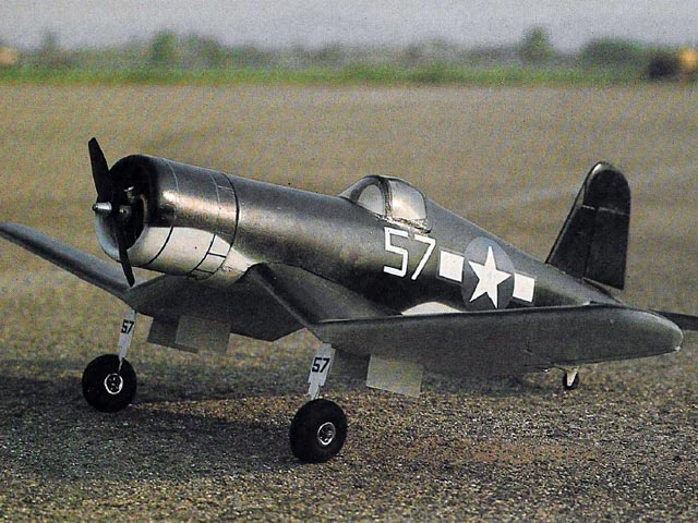 F4U-1D Corsair (oz6633) by George Caldwell from RCMplans 1977