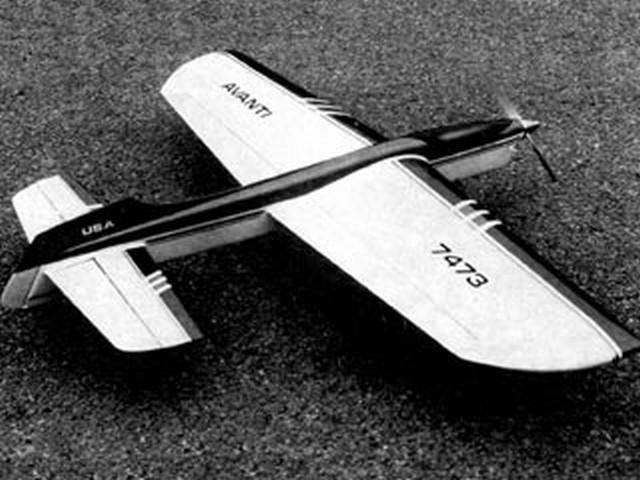 Avanti II (oz6652) by Robert Baron from Flying Models 1981