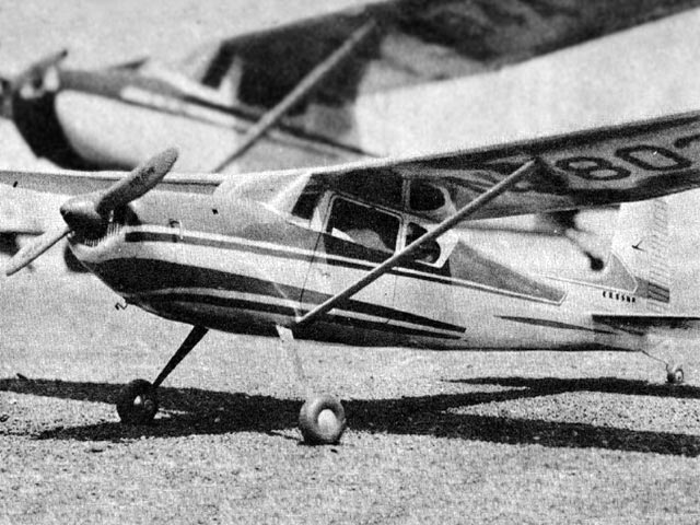 Cessna 180 (oz668) by Joseph Laterra from Model Airplane News 1956
