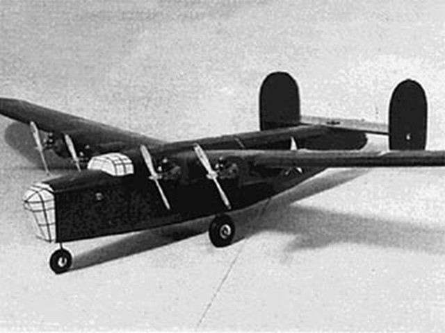 B-24 (oz6706) by Frank Baker from RCMplans 1966