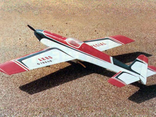 Akro Special (oz6729) by Terry Westrop from RCMplans 1988