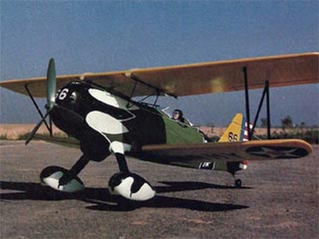 Curtiss Hawk P-6E (oz6755) by Bob Rich from RCMplans 1976