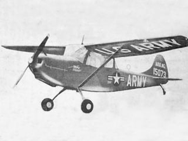 Cessna L-19 Bird Dog - completed model photo