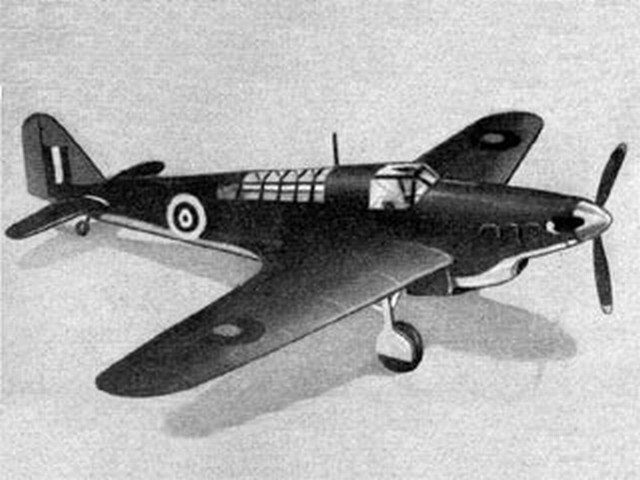 Fairey Fulmar (oz6943) by WR Jones from Aeromodeller 1942